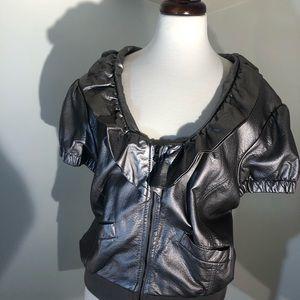 Ashley Stewart Faux Leather vest/jacket; size 1X